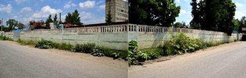 бетонный забор для промышленной зоны