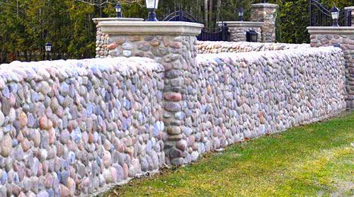 бутовый камень забор
