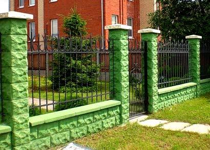 декоративные столбы забор