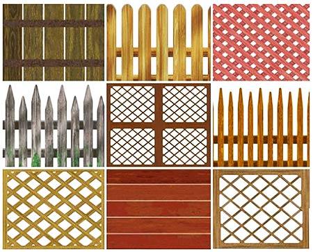 узор деревянный забор