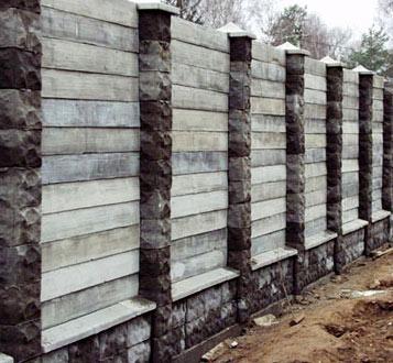 декоративный бетонный забор
