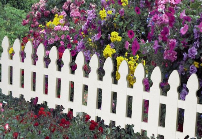 декоративный заборчик для сада
