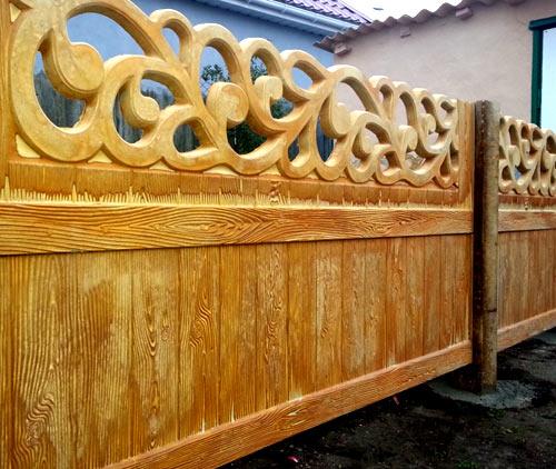 двухсторонний деревянный забор