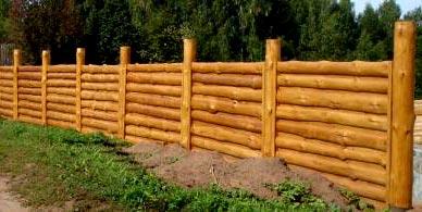 ограда из горбыля