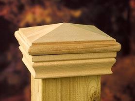 деревянная крышка для столбика
