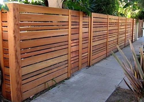 ограда из лиственницы