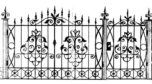 эскиз ворот калитки