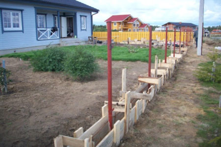 фундамент забор