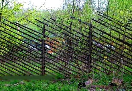 ограда из жердей