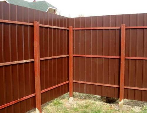 гофрированный забор