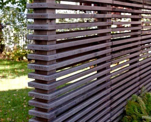 ограда из реек