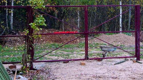 каркас покраска ворот