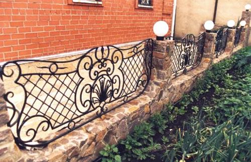 комбинированный забор палисадник
