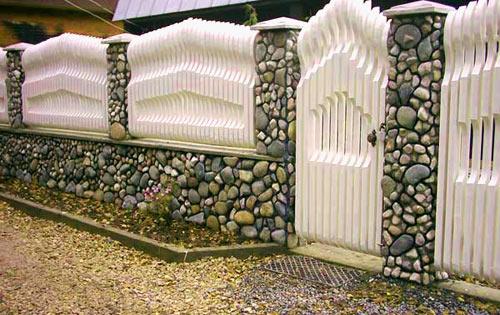 дача комбинированный забор