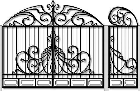 кованные калитка ворота