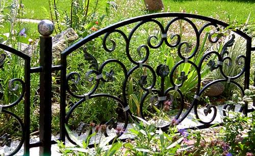 кованый забор для палисадника