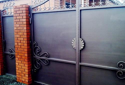 ворота калитка металлические