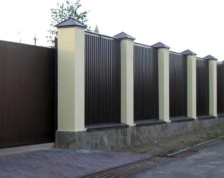 монолитный забор