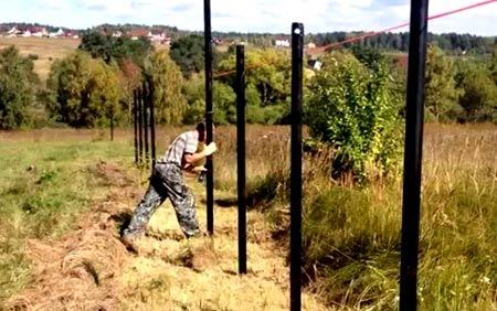 ограда из винтовых свай
