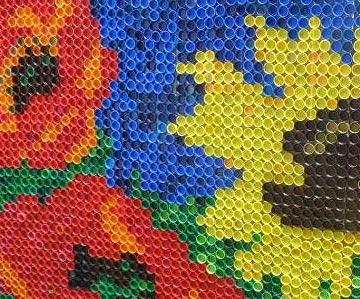 мозаика из крышек