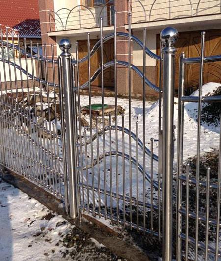 забор нержавеющая сталь