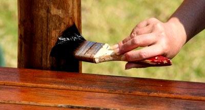 обработка деревянного столба