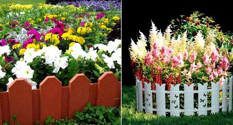 пластиковые ограждения для цветника