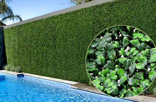 Забор из искусственных растений