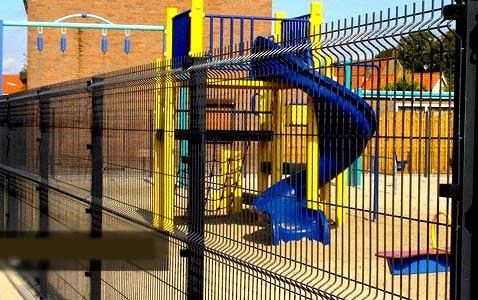 забор детская площадка