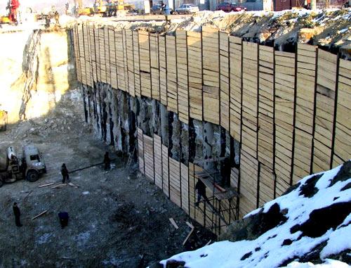 укрепление стен котлована
