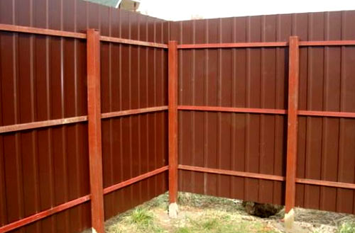 профильная ограда
