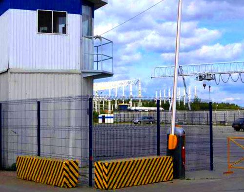 забор пропускной пункт