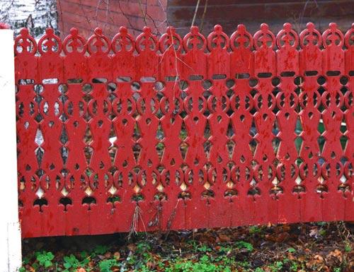 резной забор
