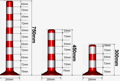 размеры столбиков для парковки