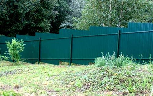 ступенчатый забор