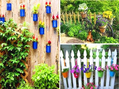 украшение забор цветами