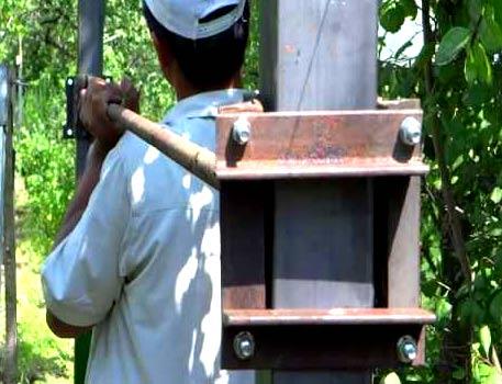 устройство для забивания столбов