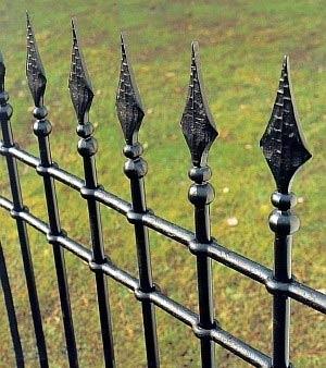 узор пик ограды