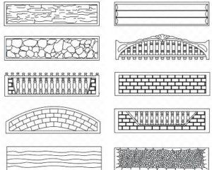 Виды панелей декоративного бетонного забора
