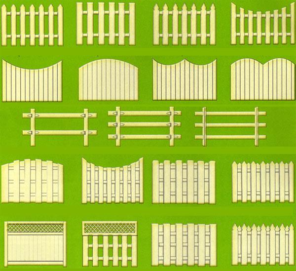 решетчатый деревянный забор