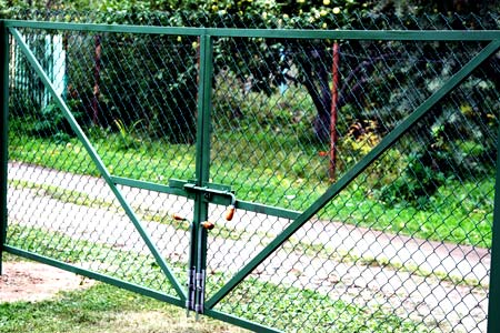 ворота из сетки рабицы
