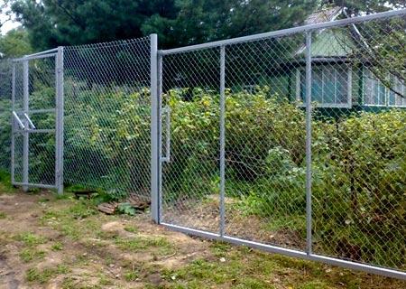 ворота из рабицы