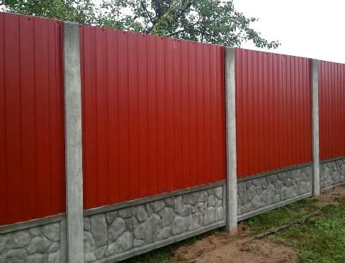 бетонные столбы для забора
