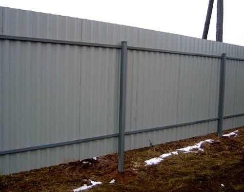 забор без фундамента