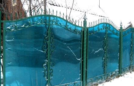 забор из цветного поликарбоната