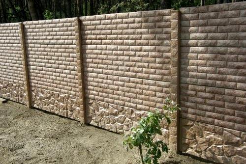 задекорированный забор